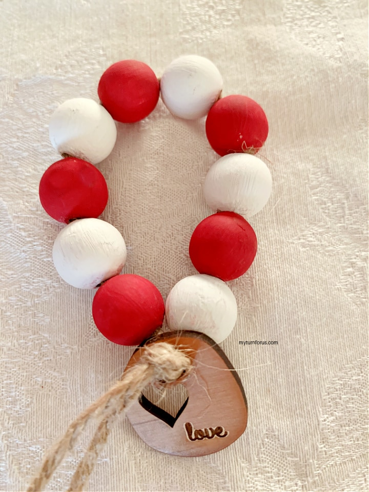 Painted wood bead napkin rings