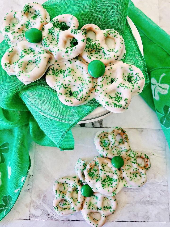St Patrick's day pretzels candy coated treats