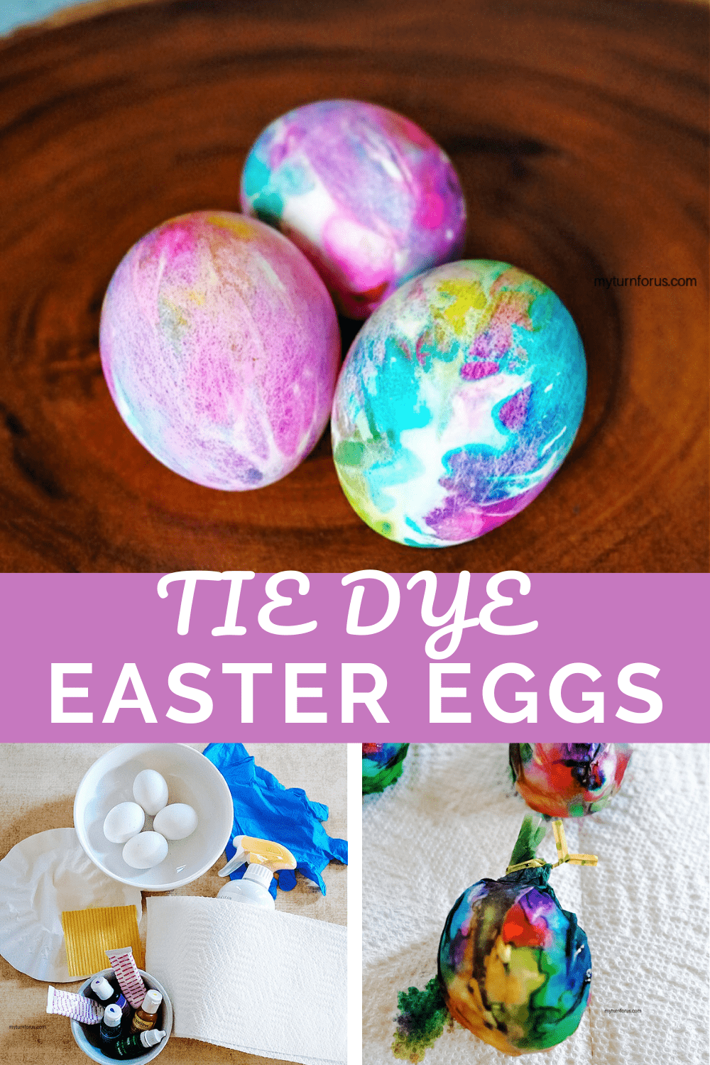 Tie Dye Easter Eggs Instructions