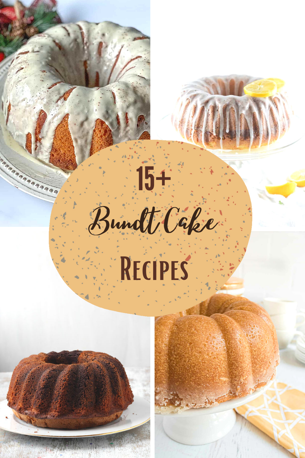 Different cake recipes for Bundt cake flavors