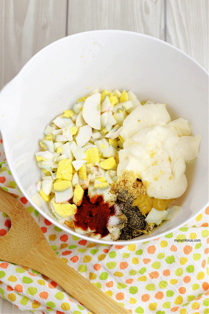Egg Salad Recipe Southern Style with eggs, mayonnaise, paprika