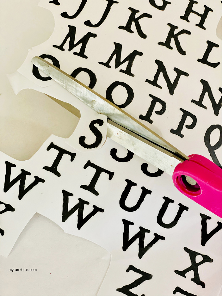 cutting out letters