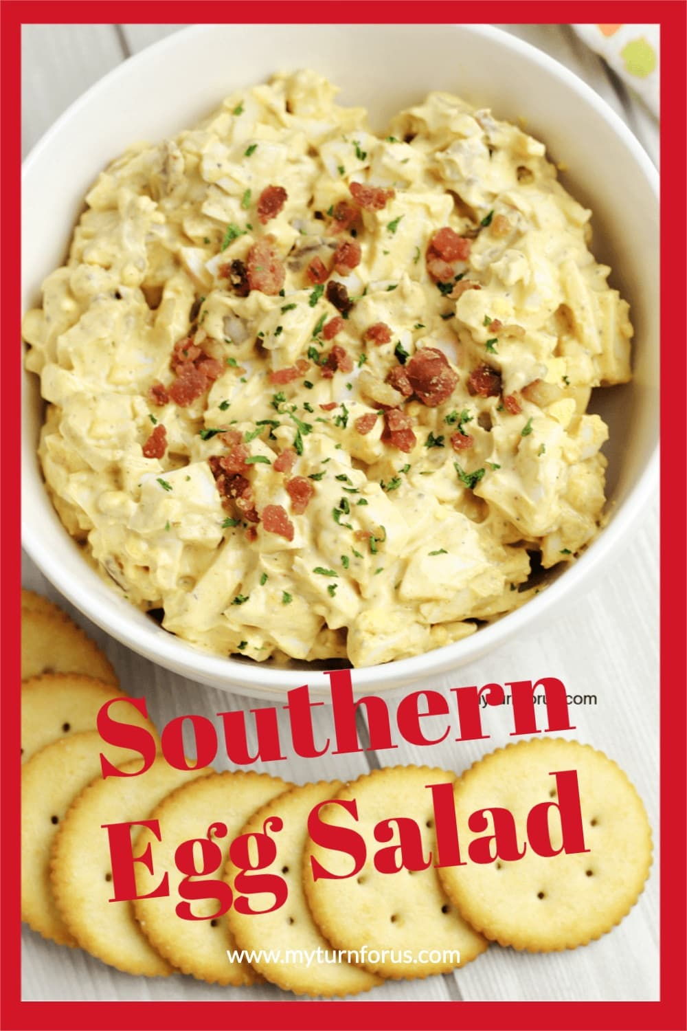 Southern Egg Salad with crackers