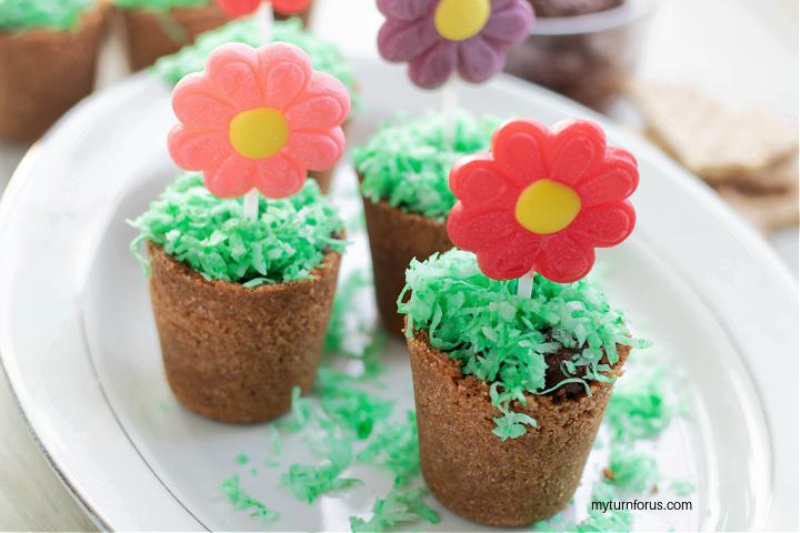 flower pot dessert cups