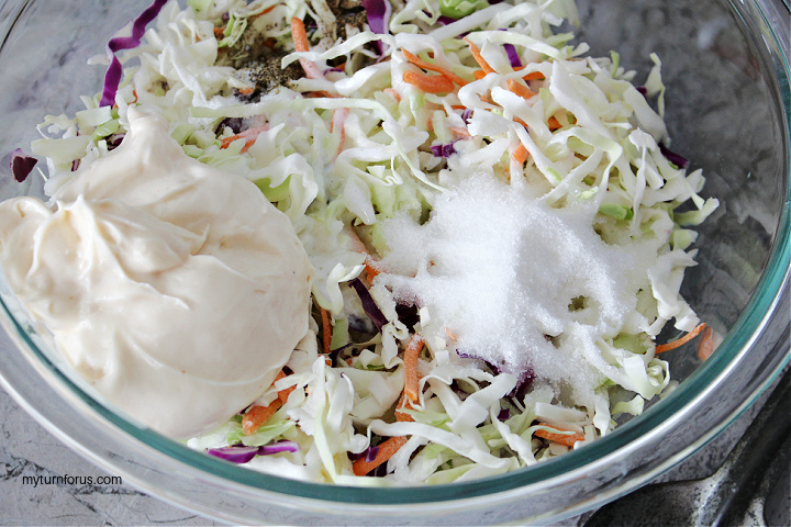 making the miracle whip coleslaw dressing