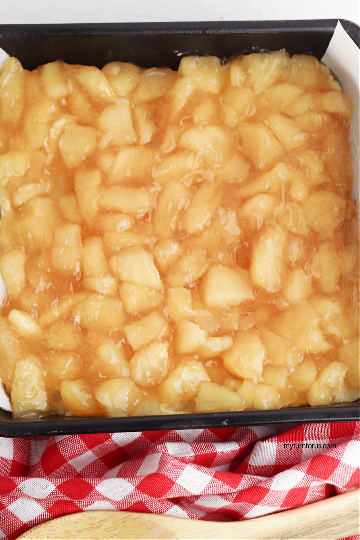 apple bars using canned apple pie filling