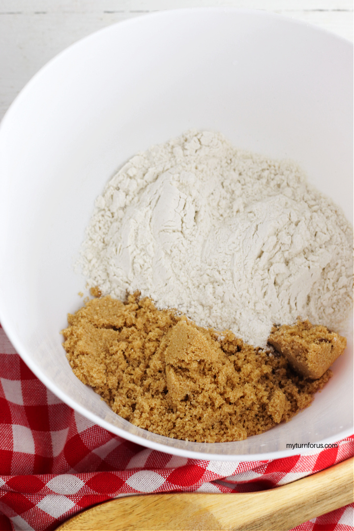 brown sugar and flour for streusel topping